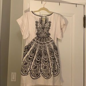 Nanette Lepore white and black sun dress